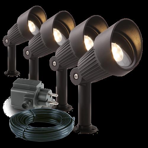 Garden Lights Tuinspot LED - Focus set van 4 st. - 12V - 3W
