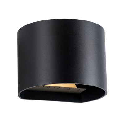 Wandlamp Buiten LED - Goura Zwart- 12V - 3W