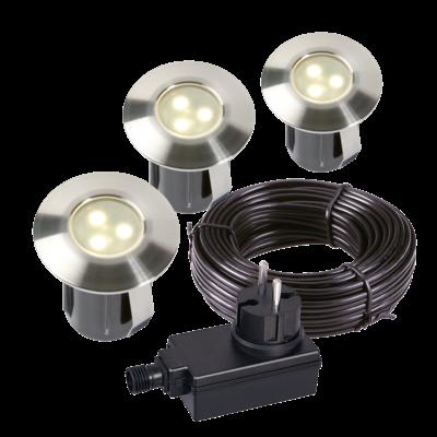 Grondspot Buiten LED -  Birch set van 3 st. - 12V - 0,5W