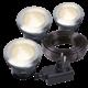 Grondspot Buiten LED -  Larch set van 3 st. - 12V - 1W