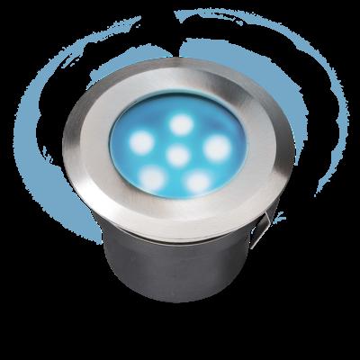 Grondspot Buiten LED -  Sirius Blauw - 12V - 1W