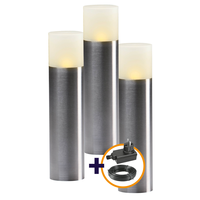 Garden Lights Staande Lamp Buiten LED - Oak  Set van 3st. - 12V - 1W