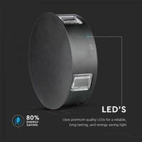 Lightexpert LED Wandlamp Buiten Zwart Rond - 3000K - 4W - IP65 - 440 Lumen