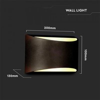 Lightexpert LED Wandlamp Buiten Zwart - 4000K - 10W - IP54 - 800 Lumen