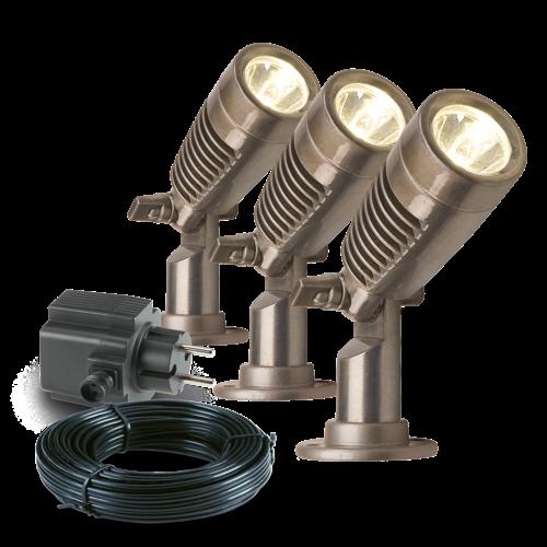 Garden Lights Tuinspot LED - Minus set van 3st - 12V - 2W
