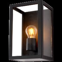Lightexpert.nl LED Wandlamp Buiten Zwart - E27 - Glas