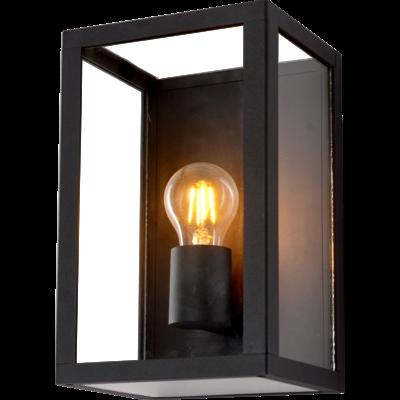 LED Wandlamp Buiten Zwart - E27 - Glas
