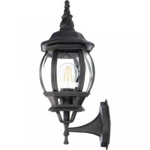Lightexpert Klassieke Wandlamp Buiten Zwart - Guadalajara - E27