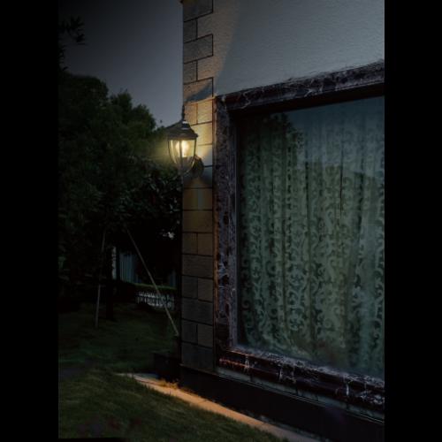 Lightexpert Klassieke Wandlamp Buiten Zwart - Tijuana - E27