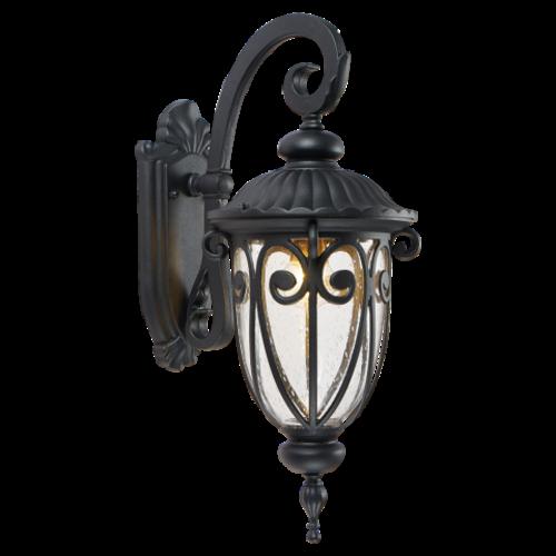 Lightexpert.nl Klassieke Wandlamp Buiten Zwart - E27