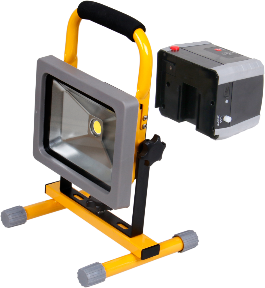 Oplaadbare LED Bouwlamp 20W - 1500lm - 6500K
