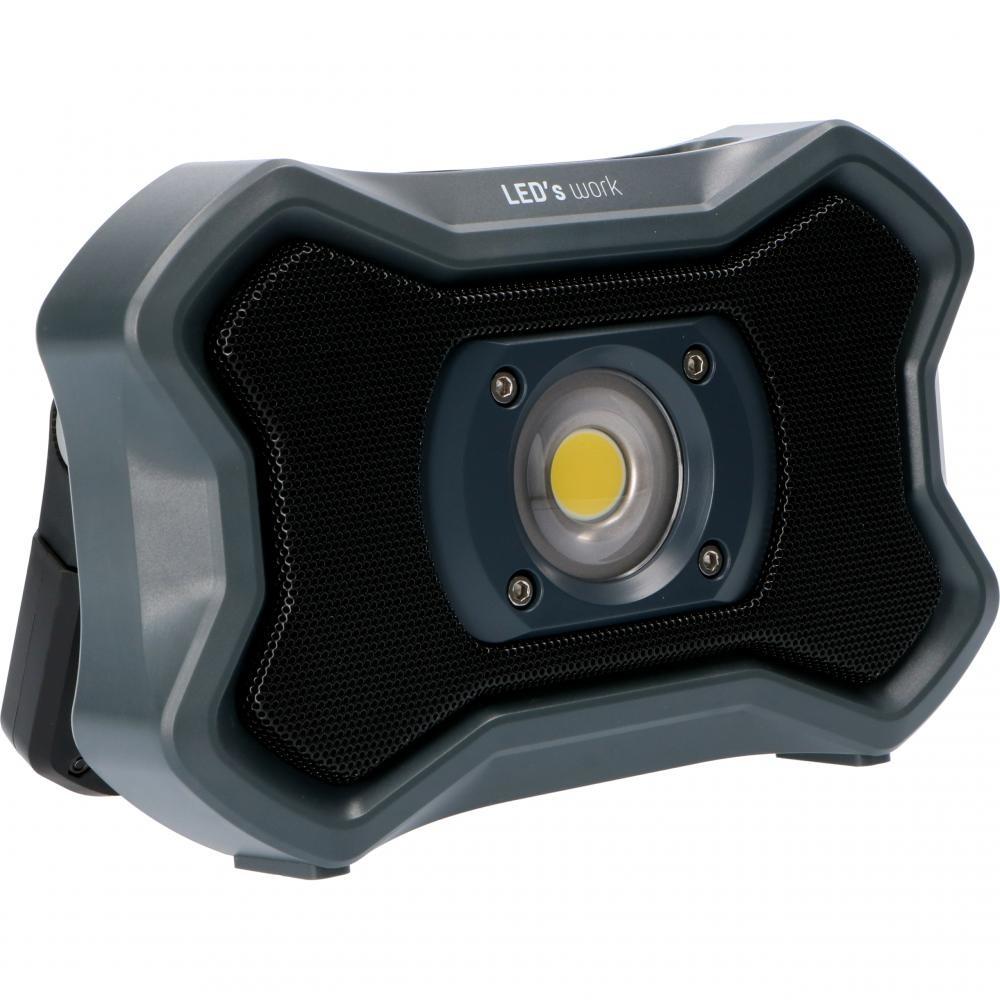 Oplaadbaar LED werklamp + speaker - 20W - 2000lm