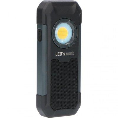 Oplaadbaar LED werklamp + speaker - 5W - 550lm