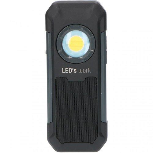 Shada Oplaadbaar LED werklamp + speaker - 5W - 550lm