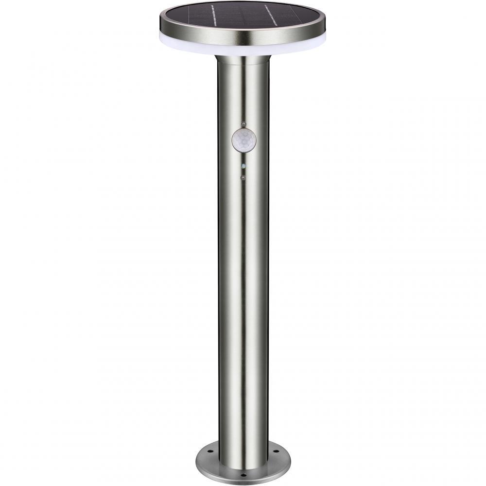 Solar Tuinpad Lamp Zilver  Rond - 6W - 2700K - 600 Lumen - SALE: 27%