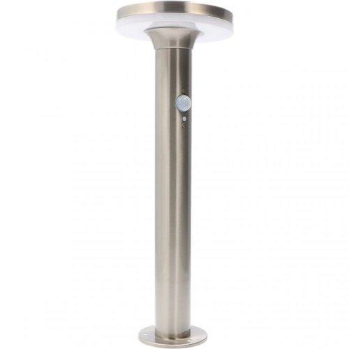 Lightexpert Solar Tuinpad Lamp Zilver  Rond - 6W - 2700K - 600 Lumen