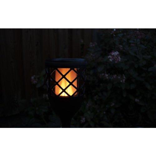 Shada Solar LED tuinfakkel zwart - 50lm - IP65