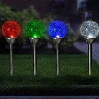Shada Solar LED Tuinlamp bol - 12cm - IP44