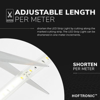 Lightexpert LED Strip 10M - Warm 3000K - Plug & Play - IP65 - Dimbaar