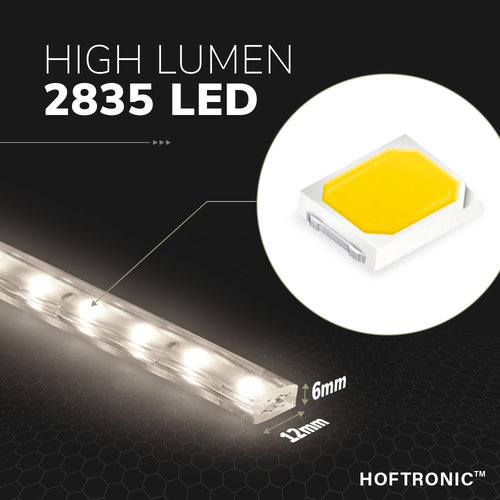 Lightexpert.nl LED Strip 2M - Cool 6000K - Plug & Play - IP65 - Dimbaar