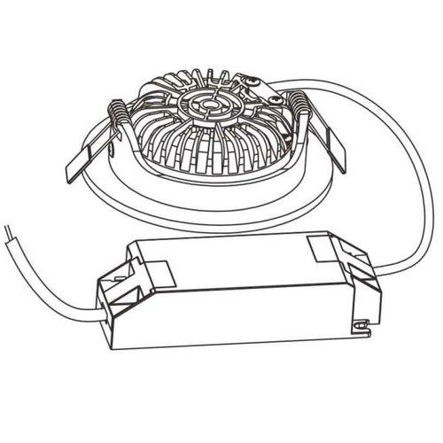 Lightexpert.nl LED Inbouwspots Wit - 5W – IP42 – 2700K - Kantelbaar