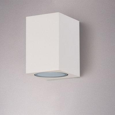 LED Wandlamp Buiten Vierkant Wit - Excl. Spot