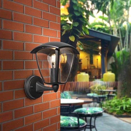Lightexpert Klassieke Buitenlamp Zwart - E27