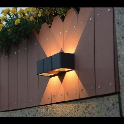 Lightexpert Wandlamp buiten - Lisbon - Grijs