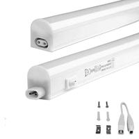 Lightexpert T5 LED Armatuur 30CM – Schakelaar – Koppelbaar – 3000K