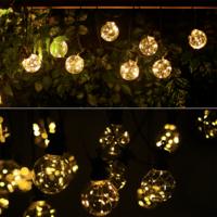 Lightexpert  8m LED Prikkabel  - Lichtsnoer Buiten IP44 - 10 Transparante LEDs - 3000K Warm wit