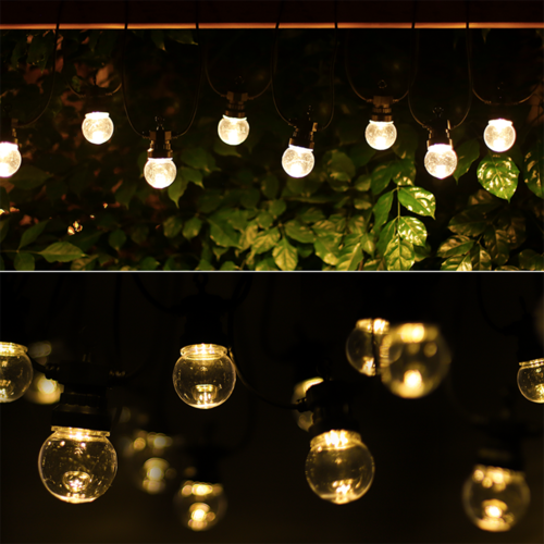 Lightexpert 8m LED Prikkabel  - IP44 Lichtsnoer Buiten - Light String - 10 Transparante LEDs