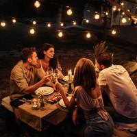 Lightexpert.nl 8m LED Prikkabel  - IP44 Lichtsnoer Buiten - Light String - 10 Transparante LEDs