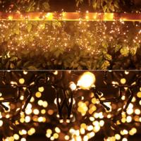 Lightexpert 10m LED Kerstverlichting  - IP44- Lichtsnoer Buiten – 500 LEDs - 2400K Warm Wit