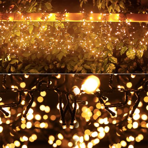 Lightexpert.nl 10m LED Kerstverlichting  - IP44- Lichtsnoer Buiten – 500 LEDs - 2400K Warm Wit