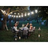 Velleman 25m LED Prikkabel - IP44 Lichtsnoer Buiten - Light String - 50 E27 Fittingen