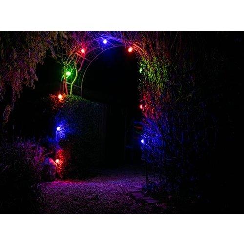 Velleman 5m LED Prikkabel - IP44 Lichtsnoer Buiten - Light String - 10 E27 Fittingen