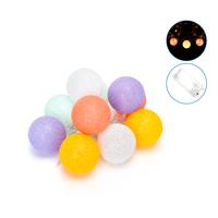 Lightexpert.nl 2m LED String Light - Lichtsnoer op Batterij - Prikkabel Binnen - Cotton Ball Lights Lichtsnoer
