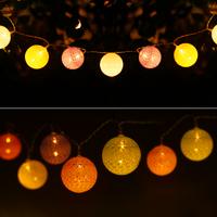 Lightexpert 2m LED String Light - Lichtsnoer op Batterij - Prikkabel Binnen - Cotton Ball Lights Lichtsnoer
