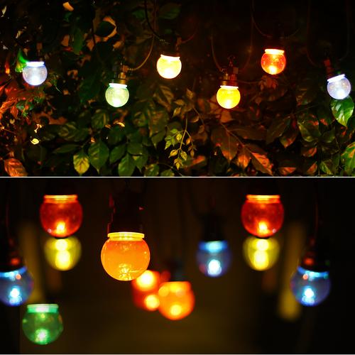Lightexpert 8m LED Prikkabel - IP44 Lichtsnoer Buiten - Light String - 10  gekleurde light bulbs