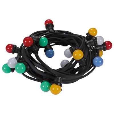 11m LED Prikkabel - IP44 Lichtsnoer Buiten - Light String - 20 Gekleurde LEDs