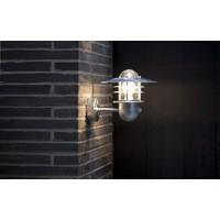 Nordlux Wandlamp Buiten Sensor Gegalvaniseerd - E27 Fitting  IP54- Agger