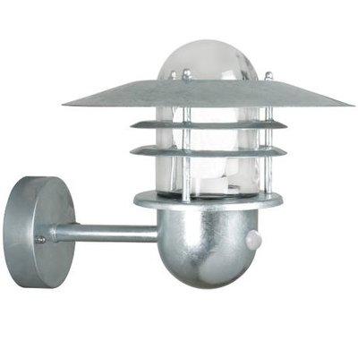 Wandlamp Buiten Sensor Gegalvaniseerd - E27 Fitting  IP54- Agger