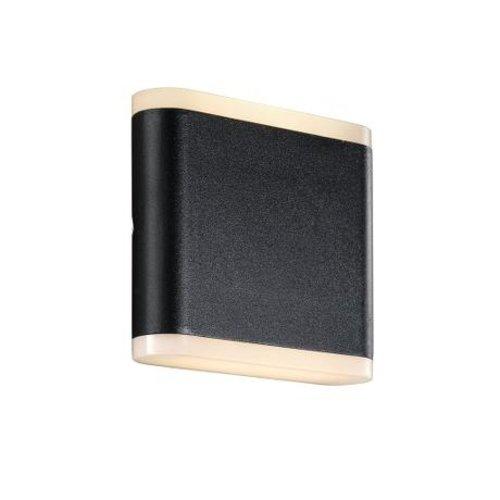 Nordlux LED Wandlamp Buiten Zwart - IP54 3W LED - Akron 11