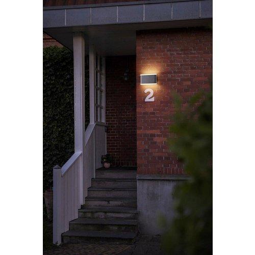 Nordlux LED Wandlamp Buiten Zwart - IP54 6W LED - Akron 17