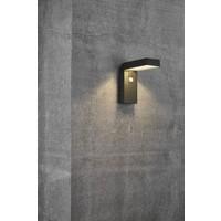 Nordlux LED Wandlamp Buiten Zwart - Solar Buitenverlichting - Buitenlamp met sensor - Alya