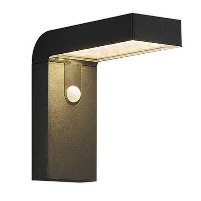 LED Wandlamp Buiten Zwart - Solar Buitenverlichting - Buitenlamp met sensor - Alya