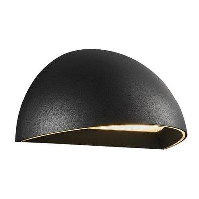 Smart LED Wandlamp Buiten Zwart  - 9,5W LED IP54 - 2700K - Arcus
