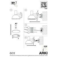 Nordlux Wandlamp Buiten Zwart - E27 Fitting IP54 - Arki Outdoor
