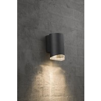 Nordlux Wandlamp Downlight - Wandlamp Buiten Zwart - GU10 Fitting IP44 - Arndlamp Buiten Zwart