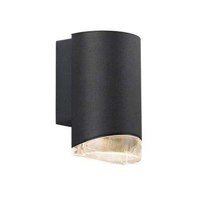 Wandlamp Downlight - Wandlamp Buiten Zwart - GU10 Fitting IP44 - Arn